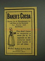 1908 Baker's Cocoa Ad - Known By all Housekeepers