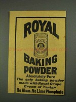 1908 Royal Baking Powder Ad - Absolutely Pure