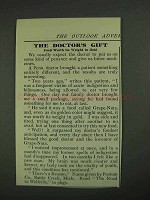 1908 Postum Drink Ad - The Doctor's Gift
