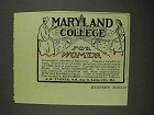 1908 Maryland College for Women Ad