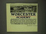 1908 Worcester Academy Ad