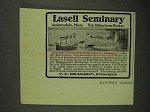 1908 Lasell Seminary Ad - Ten Miles From Boston