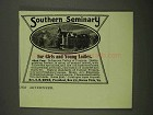 1908 Southern Seminary Ad - For Girls and Young Ladies