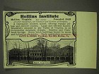 1908 Hollins Institute Ad - West Building