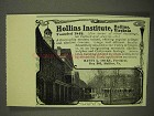 1908 Hollins Institute Ad