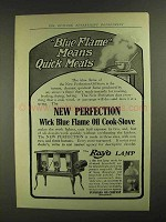 1907 New Perfection Oil Stove Ad - Blue Flame