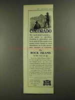 1907 Rock Island Railroad Ad - Colorado