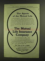 1907 The Mutual Life Insurance Company Ad - The Agents