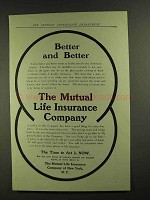 1907 the Mutual Life Insurance Company Ad - Better