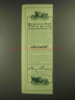 1907 Maxwell 12-14 Tourabout & 16-20 Touring Car Ad