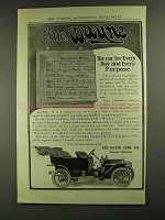 1907 The Wayne 30 Car Ad - For Every Day and Purpose