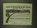 1907 Postal Life-Insurance Ad - Payable Monthly