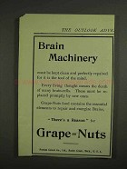 1907 Postum Grape-Nuts Cereal Ad - Brain Machinery