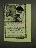 1907 Borden's Eagle Brand Condensed Milk Ad - Babies