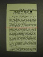 1907 Postum Grape-Nuts Cereal Ad - Couldn't Keep It