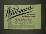 1907 Whitman's Chocolates and Confections Ad