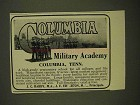 1907 Columbia Military Academy Ad