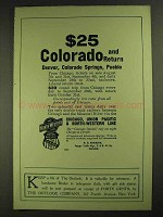 1906 Chicago, Union Pacific & North-Western Line Ad