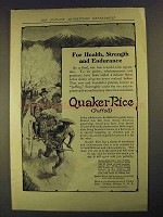 1906 Quaker Puffed Rice Ad - Health, Strength