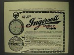 1906 Ingersoll Dollar Watch Ad - Stem Wind and Set