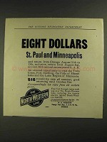 1906 North-Western Line Ad - Eight Dollars St. Paul