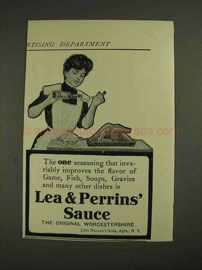 1906 Lea & Perrins' Worcestershire Sauce Ad - Improves