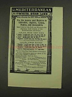 1906 White Star Line Ad - To the Mediterranean