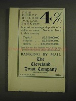 1906 The Cleveland Trust Company Ad - Pays 4%