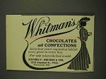 1906 Whitman's Chocolates and Confections Ad