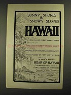 1903 Hawaii Promotion Committee Ad - Sunny Shores