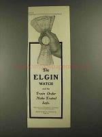 1903 Elgin National Watch Co Ad - Train Order