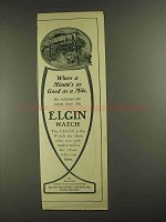 1903 Elgin National Watch Co Ad - Good as a Mile
