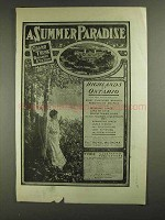 1903 Grand Trunk Railway System Ad - Summer Paradise