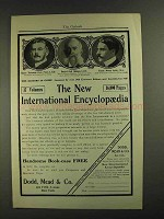 1903 Dodd, Mead & Co. New International Encyclopedia Ad