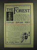 1903 The Forest Book by Stewart Edward White Ad - Author of Blazed Trail