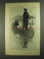 1903 Approaching Rapids Illustration - Thomas Fogarty