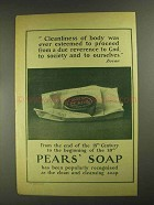 1903 Pears' Soap Ad - Cleanliness of Body