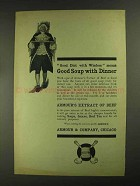1903 Armour's Extract of Beef Ad - Good Soup
