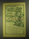 1903 Swift's Premium Hams and Bacon Ad - All Weather