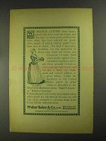 1903 Baker's Cocoa and Chocolate Ad - Receive Letters