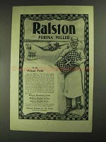 1903 Ralston Purina Flour Ad - In the Wheat Field