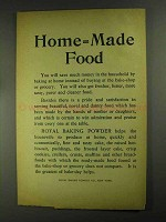 1903 Royal Baking Powder Ad - Home=Made Food