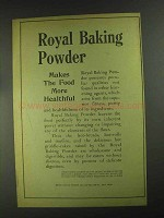 1903 Royal Baking Powder Ad - Makes Food More Healthful