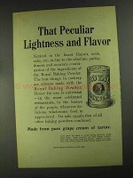1903 Royal Baking Powder Ad - Peculiar Lightness
