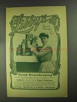 1903 Libby's Food Ad - Good Things To Eat - NICE!