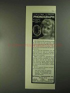 1903 Edison Phonograph Ad - A Joy At Home