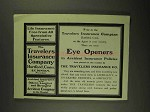 1903 Travelers Insurance Ad - Eye Openers