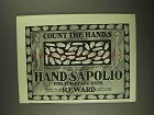 1903 Hand Sapolio Soap Ad - Count the Hands