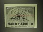 1903 Hand Sapolio Soap Ad - If, On the One Hand