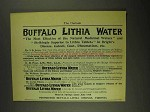 1903 Buffalo Lithia Water Ad - The Most Effective